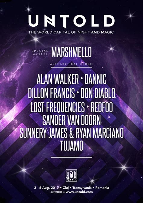 alan walker untold marshmello și alan walker confirmați la untold 2017