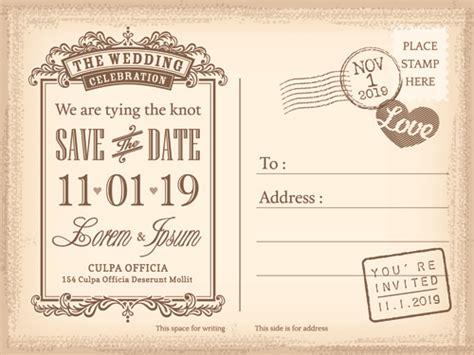 wedding invitation graphic design vector wedding invitations postcard design graphic vector free vector in encapsulated postscript eps