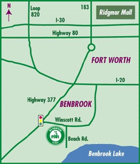 map of benbrook texas other texas area golf course guide