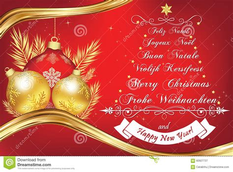 business  year greeting card   languages stock vector illustration  wreath part