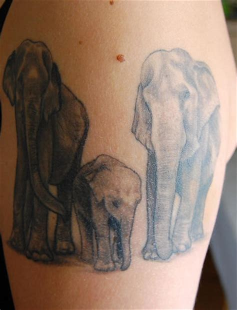 elephant family tattoo elephant family
