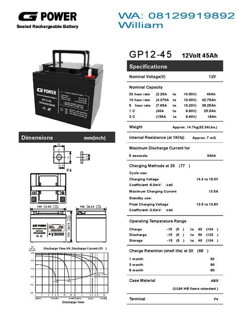 Gpower Ups Battery 7 2ah 10001 quot g power quot baterry ups murah battery