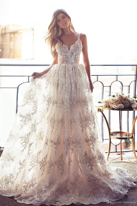 Wedding Dresses Summer by 2017 Lace Open Back Wedding Dresses Spaghetti