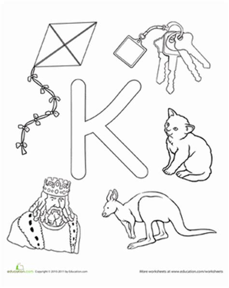 k is for worksheet education com