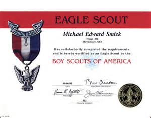 Eagle Scout Certificate Template by Eagle Scout Award Certificate Template Pictures To Pin On