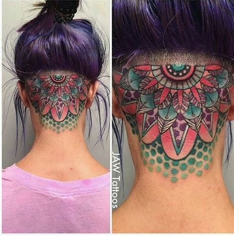 girly neck tattoos feminine geometric neck by white jaw