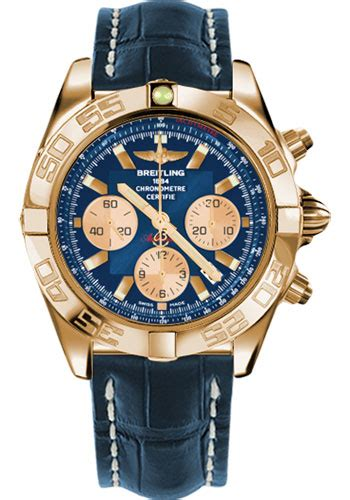 Hb Croco Doff Blue breitling chronomat 44 gold watches from swissluxury
