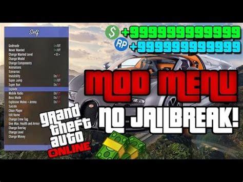 mod games no jailbreak gta 5 mod menu tutorial no jailbreak xbox 360 ps3 1 08