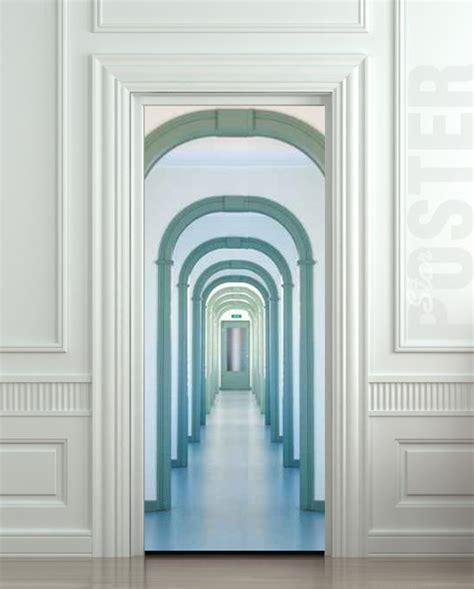 bedroom door decals wall door sticker entry interior corridor passage city