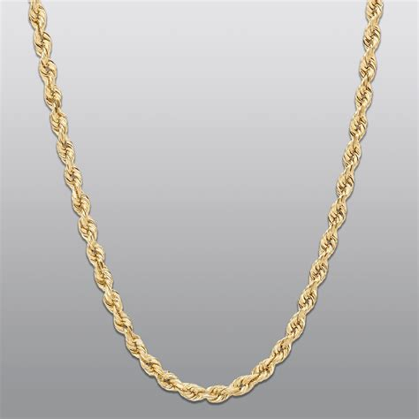 jewelry chain 3mm rope chain 10k gold buy your gold staple jewelry from