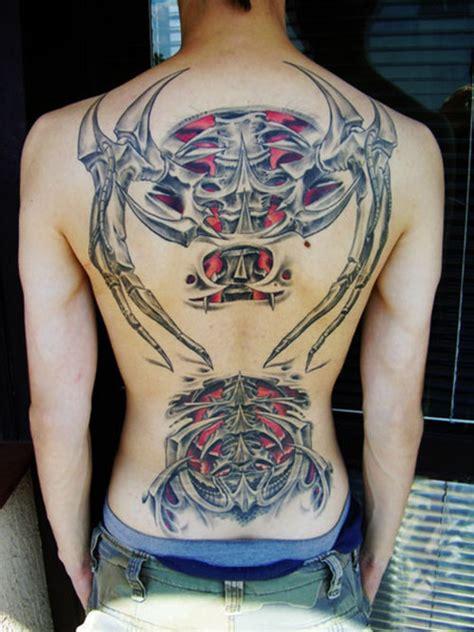 biomechanical tattoo upper back biomechanical tribal tattoo on girl back tattooshunt com