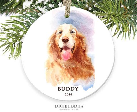 personalized golden retriever gifts golden retriever ornament personalized ornament gold retriever ornament