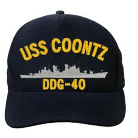 uss coontz ddg  cap dark navy direct embroidered