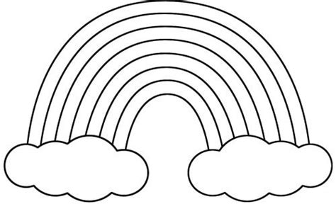 spring rainbow coloring page rainbow and clouds coloring pages theme spring