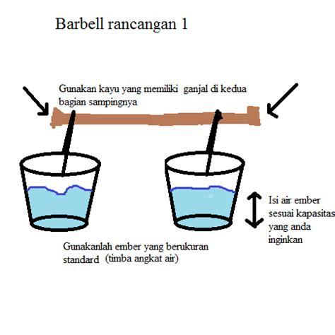 Tongkat Barbel cara sederhana membuat barbel anak aceh gayo