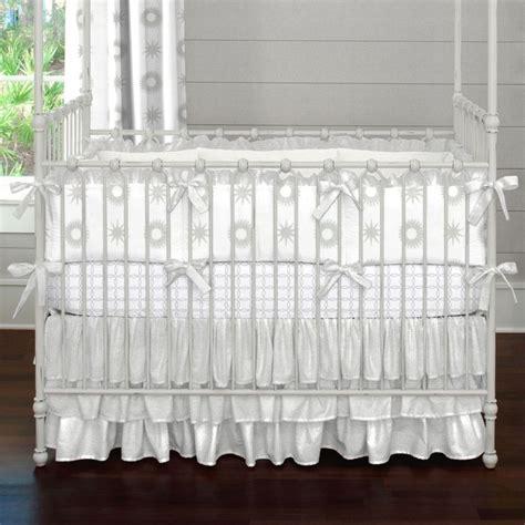 Satin Crib Bedding Pink And Gray Damask Baby Crib Bedding Carousel Designs And Crib Skirts
