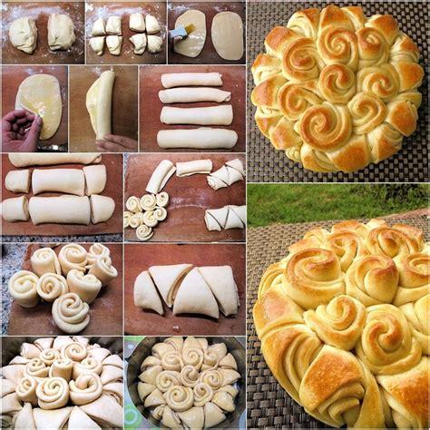 flower food diy diy delicious happy flower bread