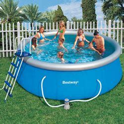 best way piscine bestway piscine ronde fast set pools 3 66 m achat