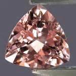 Pink Topaz Memo Id Lab Gri hexagonal morganite beryl gem resource international