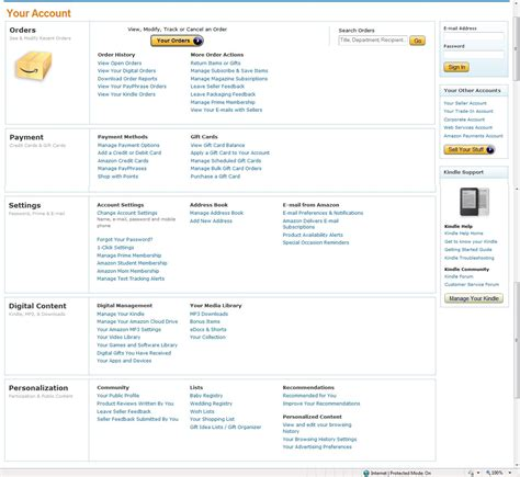 Amazon Your Account | amazon ca sign in related keywords keywordfree com
