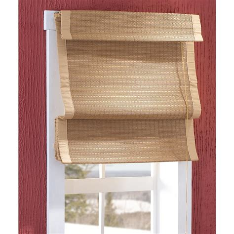 thermal insulated bamboo roman shades 150385 curtains at sportsman s guide