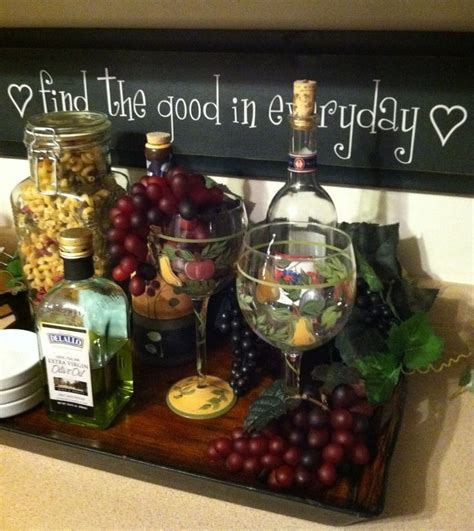 wine theme kitchen decoration wine theme kitchen ideas tray fake cheese and grapes with wine bottles kitchen
