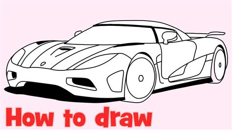 koenigsegg car drawing how to draw a car koenigsegg agera r step by step supercar
