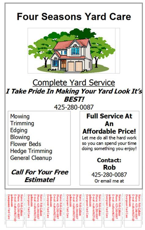 spring lawn care flyer lawn care business marketing tips