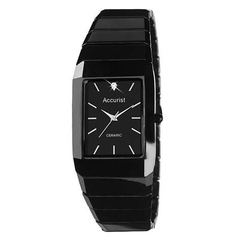 accurist s black ceramic bracelet h samuel