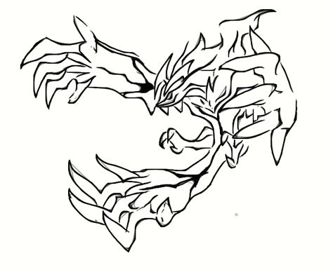 pokemon coloring pages yveltal yveltal by arubinokyuketsuki on deviantart
