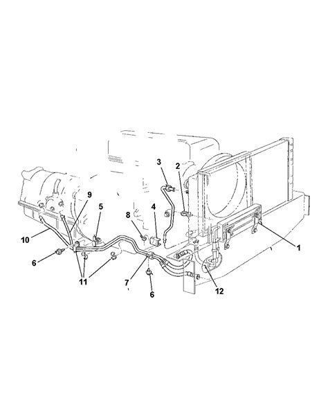 2004 Jeep Grand Transmission Cooler Lines Diagram