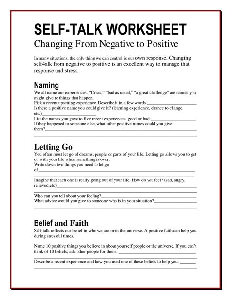 coping with anxiety worksheets anger worksheets google search positive thinking