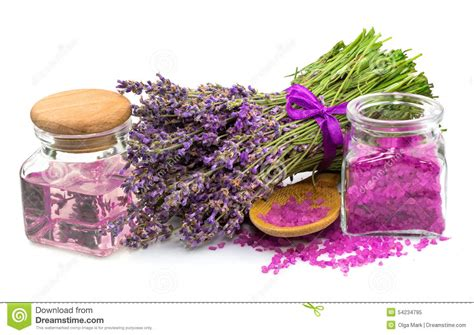 Aromatherapy Salt L by Cosmetic Product Lavender Aroma Salt Stock