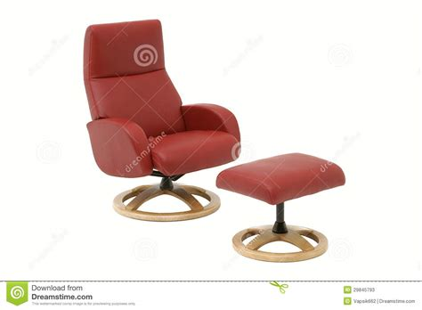 armchair with leg rest red armchair with leg rest royalty free stock photography