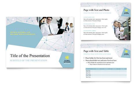 ppt templates for network presentation global network services powerpoint presentation template