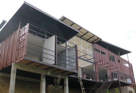 Two Story House Designs Stacked Shipping Containers Create Smart Green Homes In