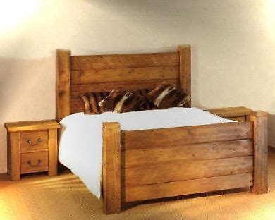 Handmade Beds - handmade chunky solid wooden pine single kingsize