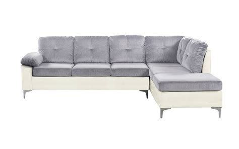 microfiber and faux leather sectional sofa alfredo microfiber with faux leather sectional sofamania com