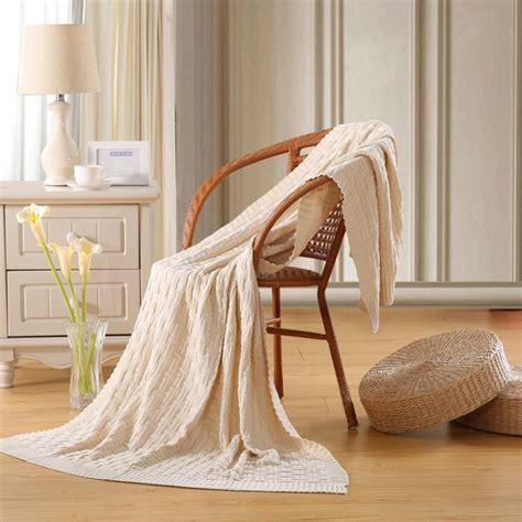 knitted bed throw pattern 100 cotton knitted blanket for bed quality rectangle