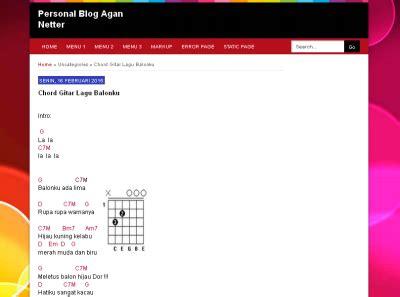 membuat blog lirik lagu cara membuat blog di blogspot untuk chord gitar klik