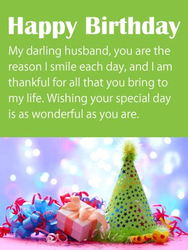 greetings for husband to my cherished husband happy birthday wishes card