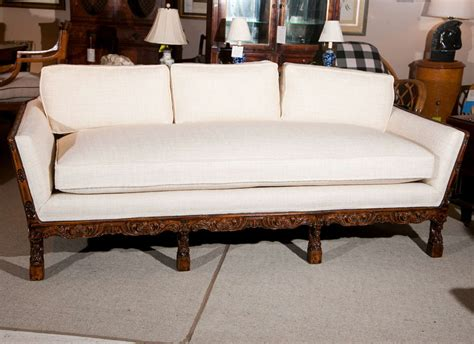 carved wood frame sofa at 1stdibs
