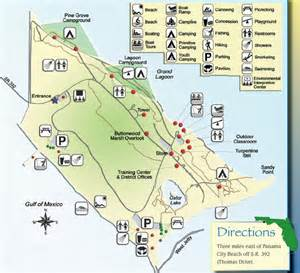 state park maps st state park map panama city florida mappery
