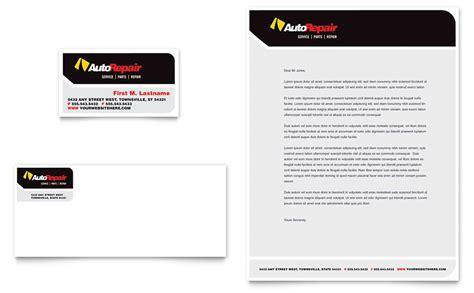 auto repair business card letterhead template word