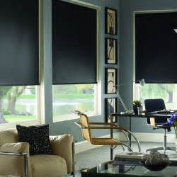 Media Room Blackout Curtains - blackout roller shades for media room contemporary home office other metro by blinds com