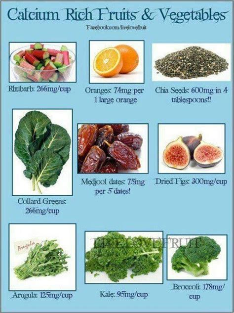 vegetables high in magnesium calcium rich foods food facts