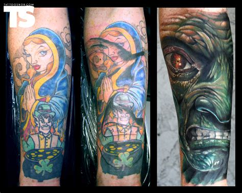 black cover up tattoo the best cover ups of the worst tattoos