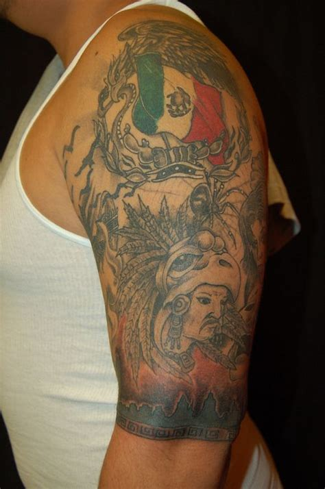 quarter sleeve aztec tattoo half sleeve aztec tattoo for men http tattooswall com