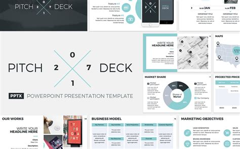 Pitch Deck 2017 Powerpoint Template 64443 Project Deck Template
