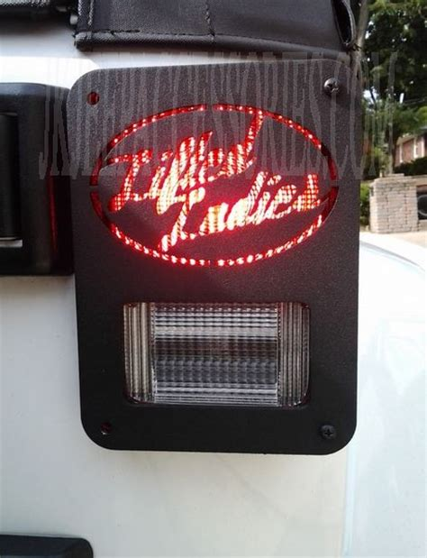 customjeep wrangler jk tail light guard